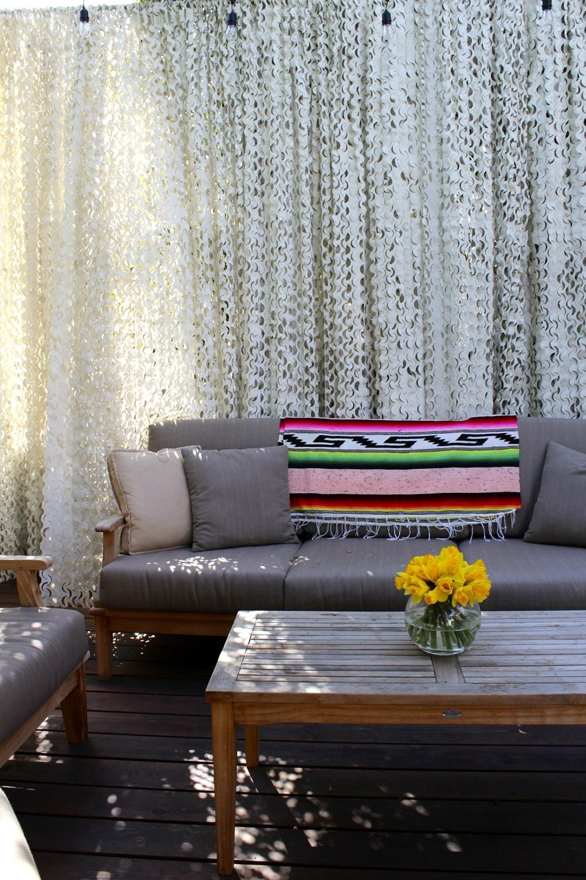 Patio furniture with blanket
