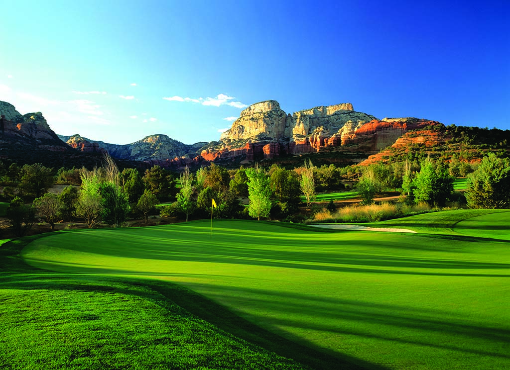 The 8th hole at Seven Canyons in Sedona.
