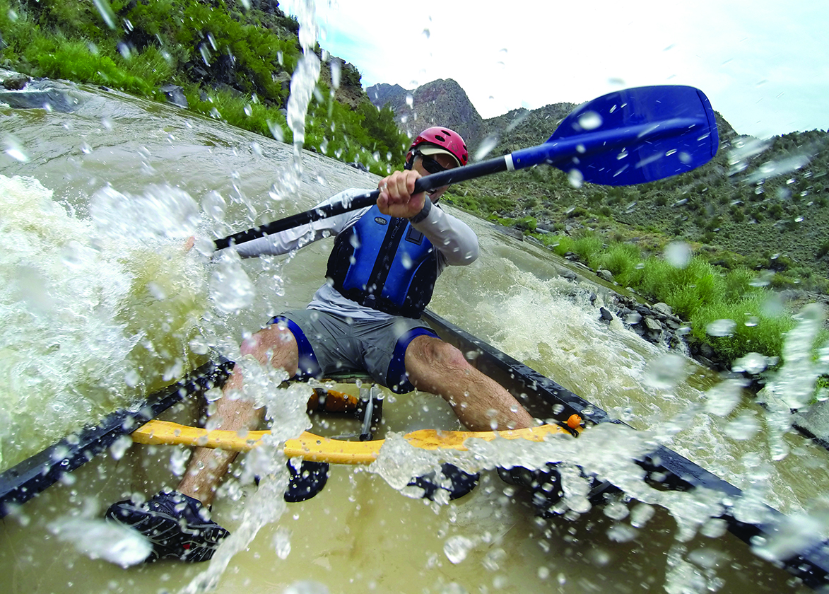 White water canoeon the Rio Grande River in New Mexico.