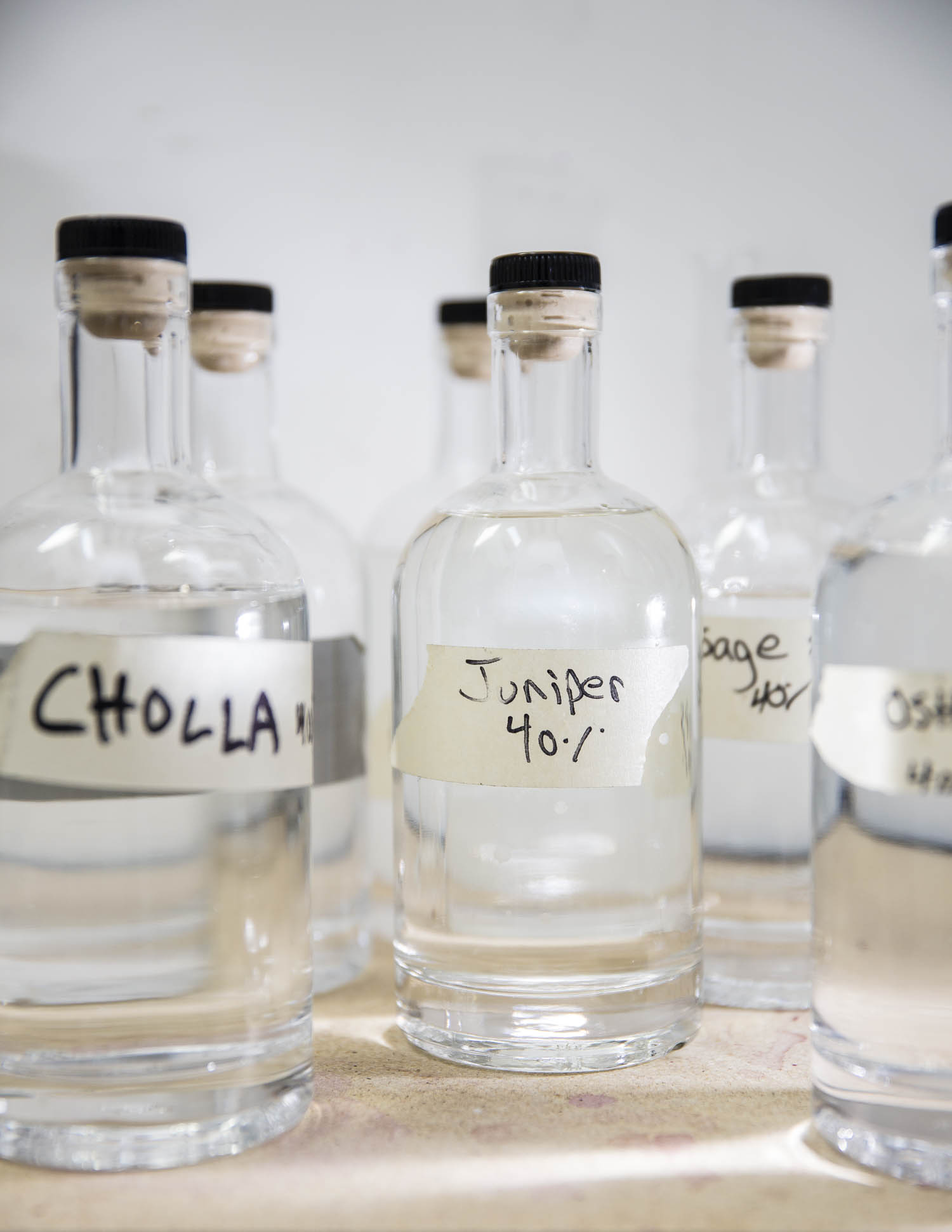 Santa Fe Spirits uses New Mexican botanicals to flavor its gin. Photos by Jen Judge.
