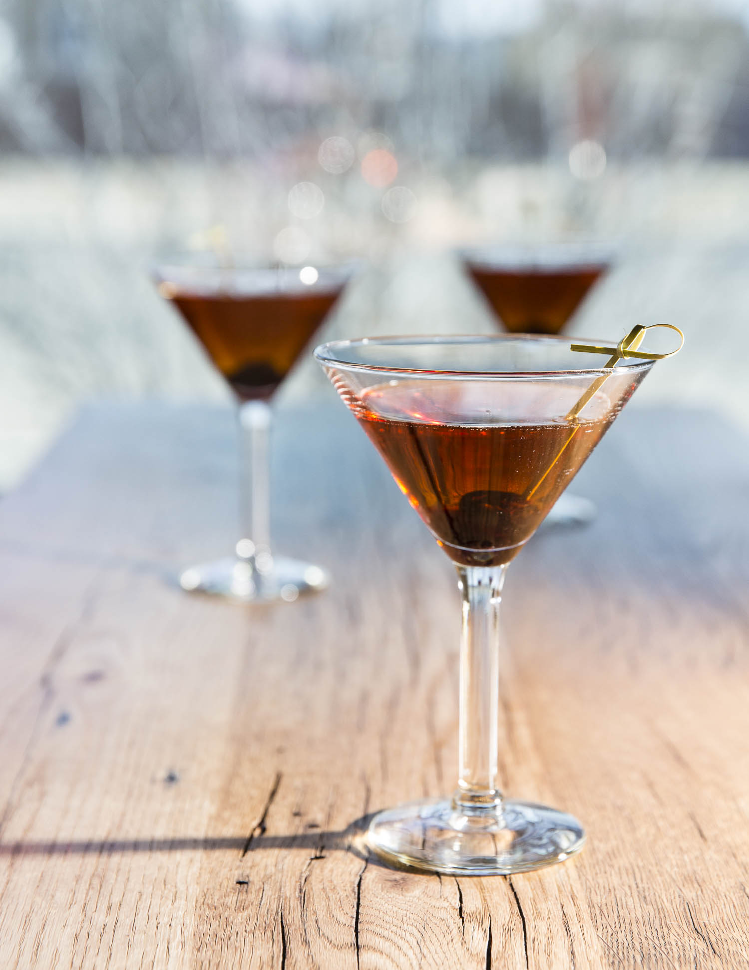A smokey manhattan made with Colkegan Whiskey. Photos by Jen Judge.