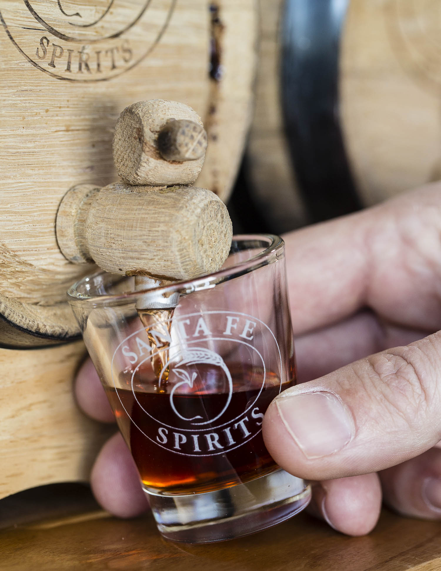 Tasting the barrel-aged manhattan made with Silver Coyote Whiskey. Photos by Jen Judge.
