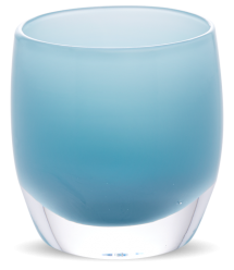 Glassybaby candle holder in Robin's Egg