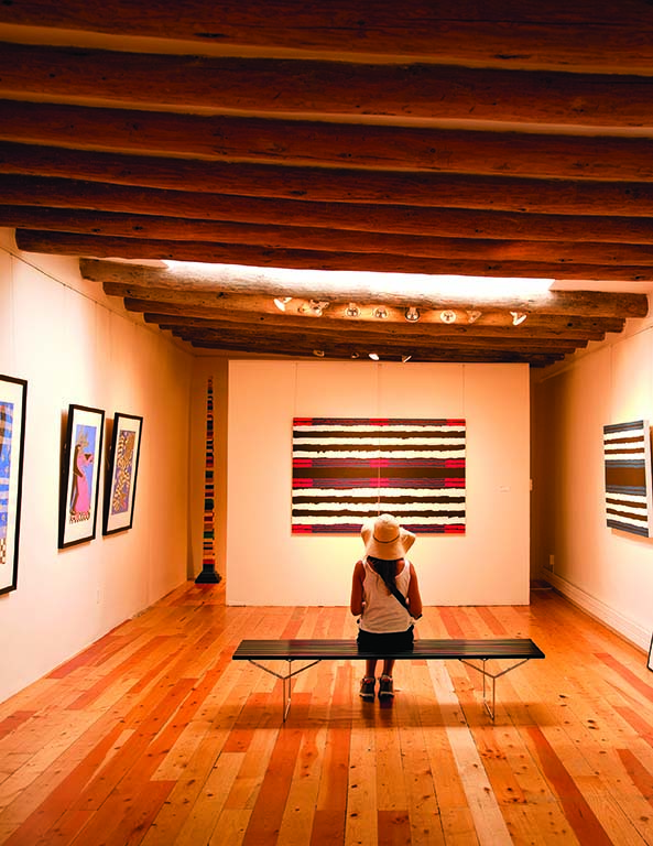 Art collectors from around the world flock to Santa Fe's galleries, such as Chiaroscuro Contemporary Art.