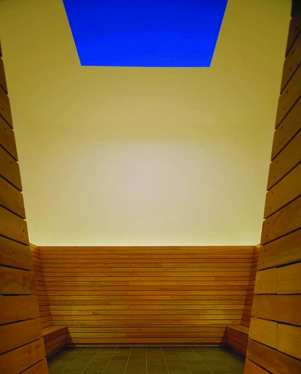 A James Turrell Skyspace offers a spot to contemplate the changing Southwestern sky. Photo by David Marlow.