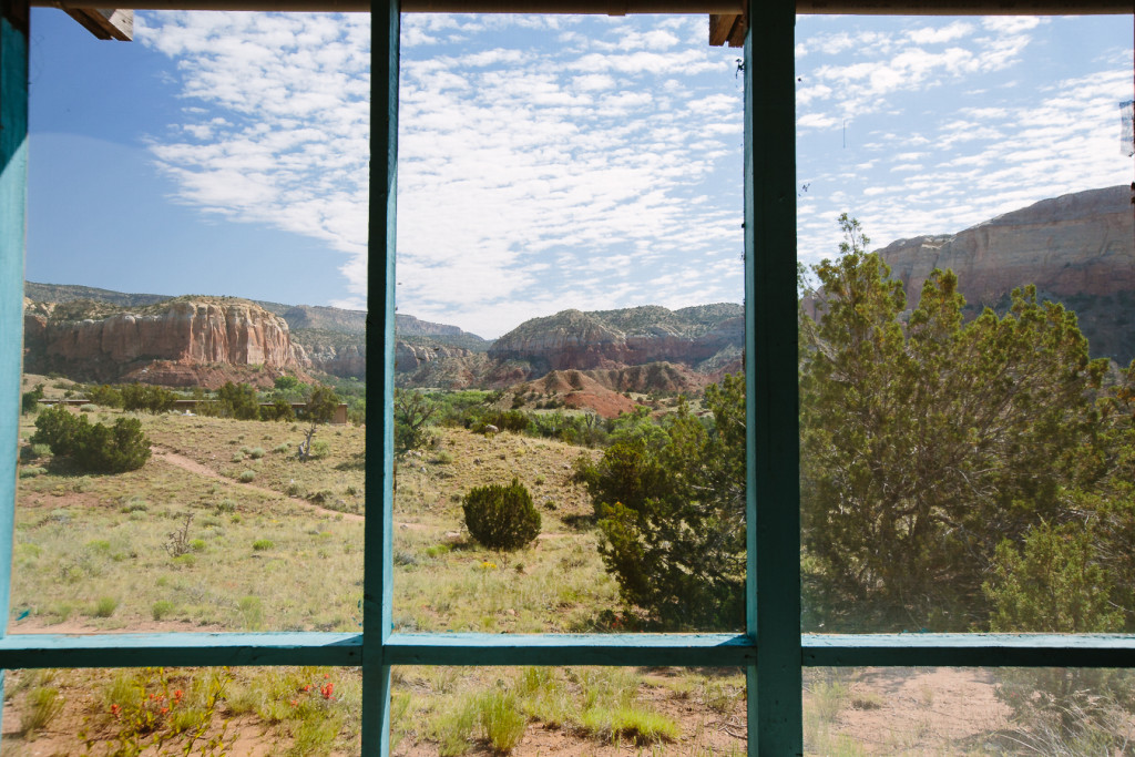 Room with a view at Ghost Ranch.