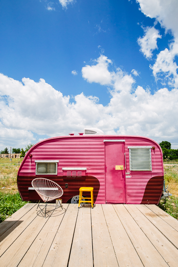 The most adorable trailer at the El Cosmico in Marfa, Texas.
