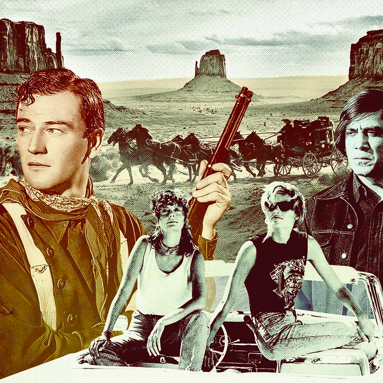 The location list for these classic films reads like a greatest hits album of Southwest haunts. Illustration by Sean McCabe.