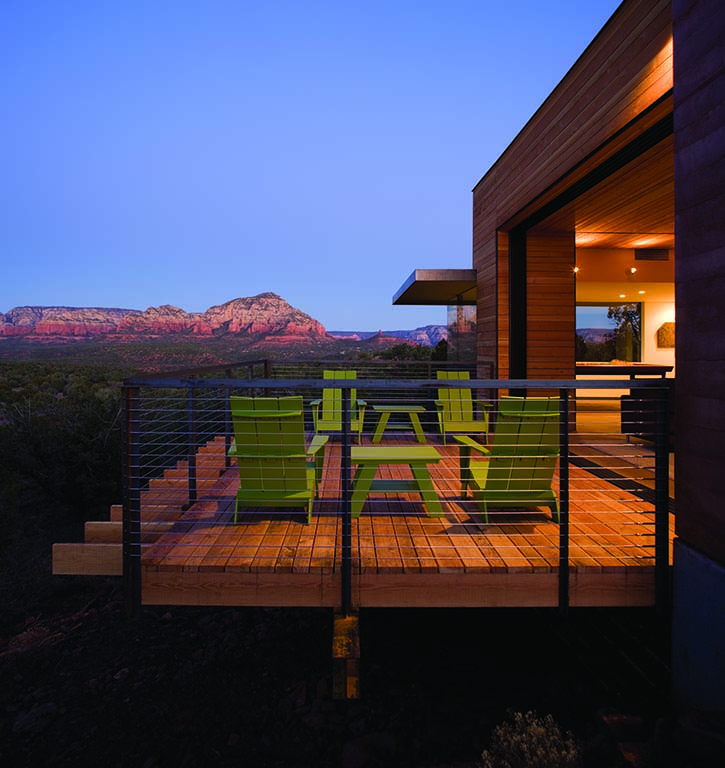 Sweeping views of Sedona's red rocks from a home in the Aerie.