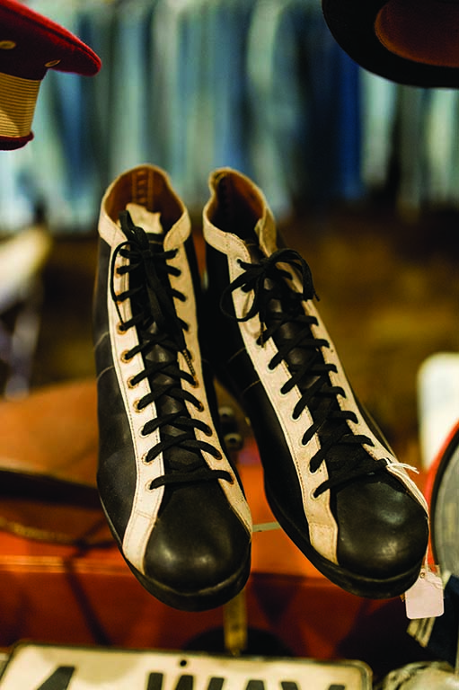 A pair of 1930s athletic shoes.