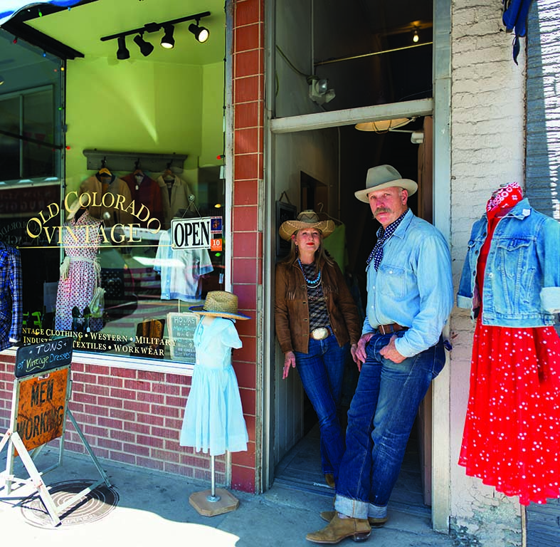 Carrie and Tom Dragt own Old Colorado Vintage in Durango, where denim reigns supreme.