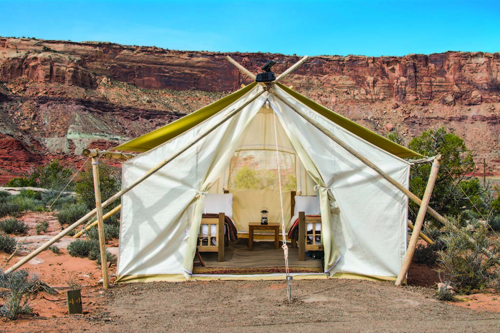 The suite life at Moab Under Canvas.