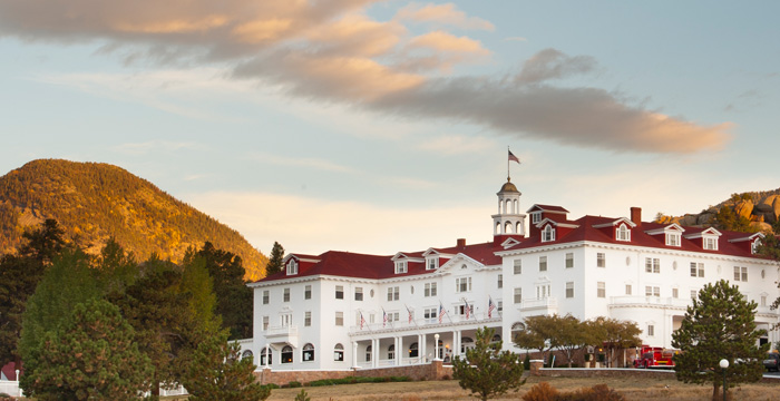 Here's Johnny! Image of The Stanley Hotel courtesy of visitestespark.com.