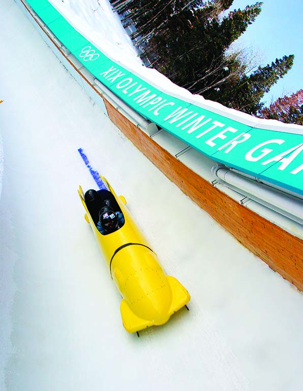 The Winter Comet Bobsled at Utah Olympic Park in Park City. Photo courtesy of Utah Olympic Park.