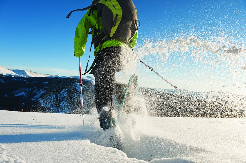 Snowshoeing Colorado's pristine backcountry. Photo by Michael Clark.