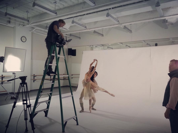 A behind-the-scenes peek at an ad shoot for Salt Lake City's Ballet West. Photo by Ballet West.
