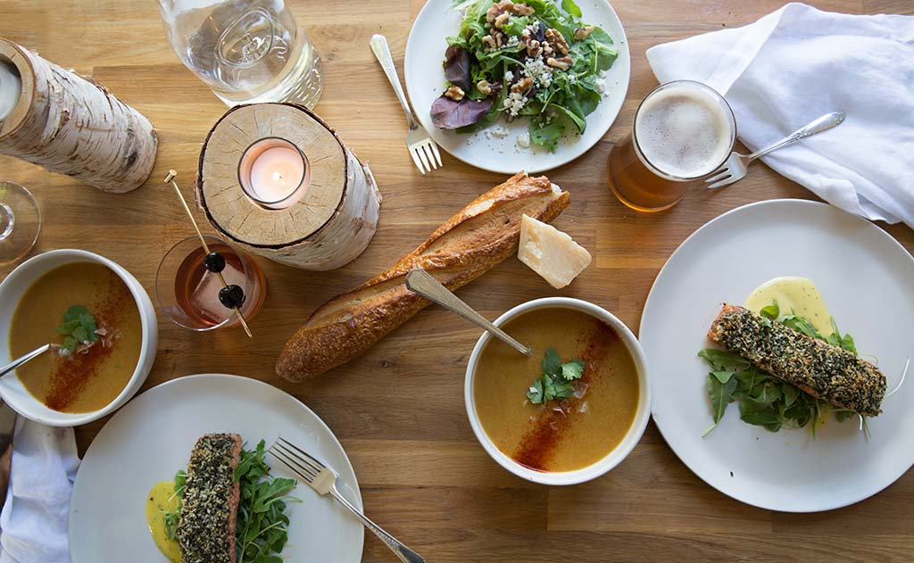 A skiier's reward at Magic Meadows Yurt. Photo by Fawn DeViney, food styling by Constance Higley.