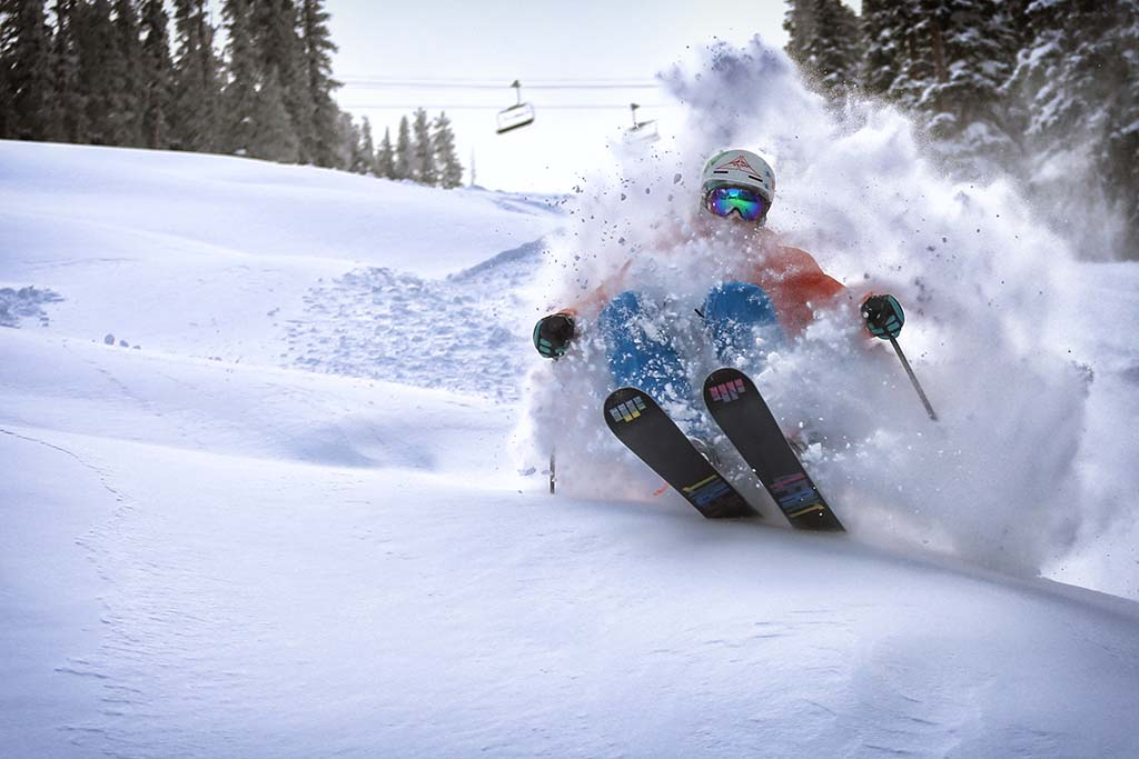 Skiing at Copper Mountain. Photo by Tripp Fay, Copper Mountain Resort.