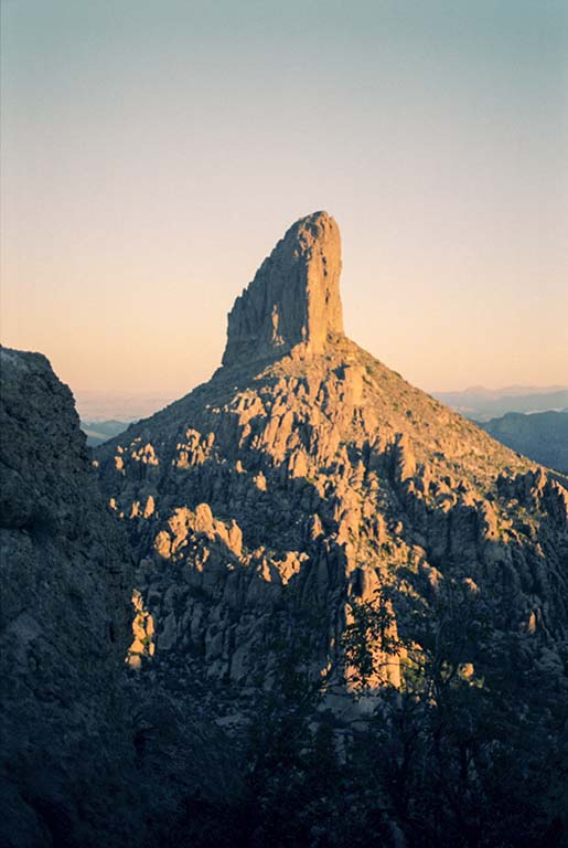 Weavers Needle at sunrise.