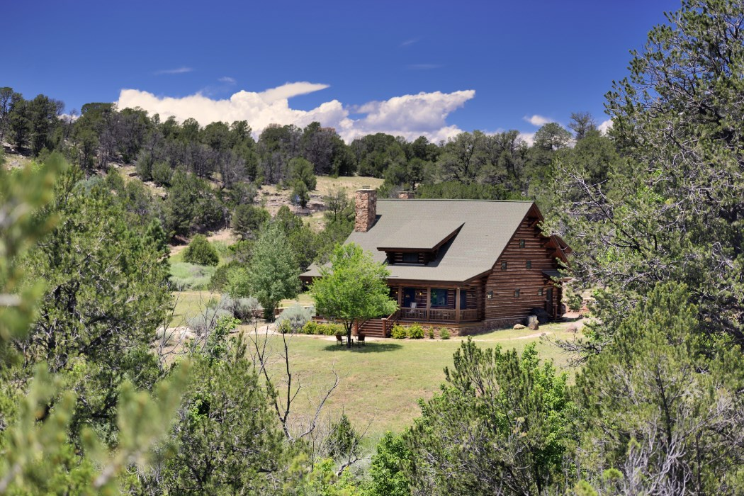 home tour a charming log cabin near santa fe dorado