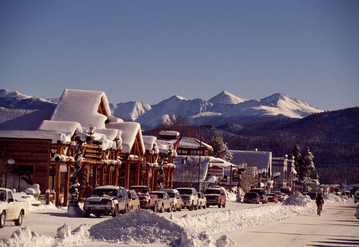 Main Street in Frisco, Colorado.