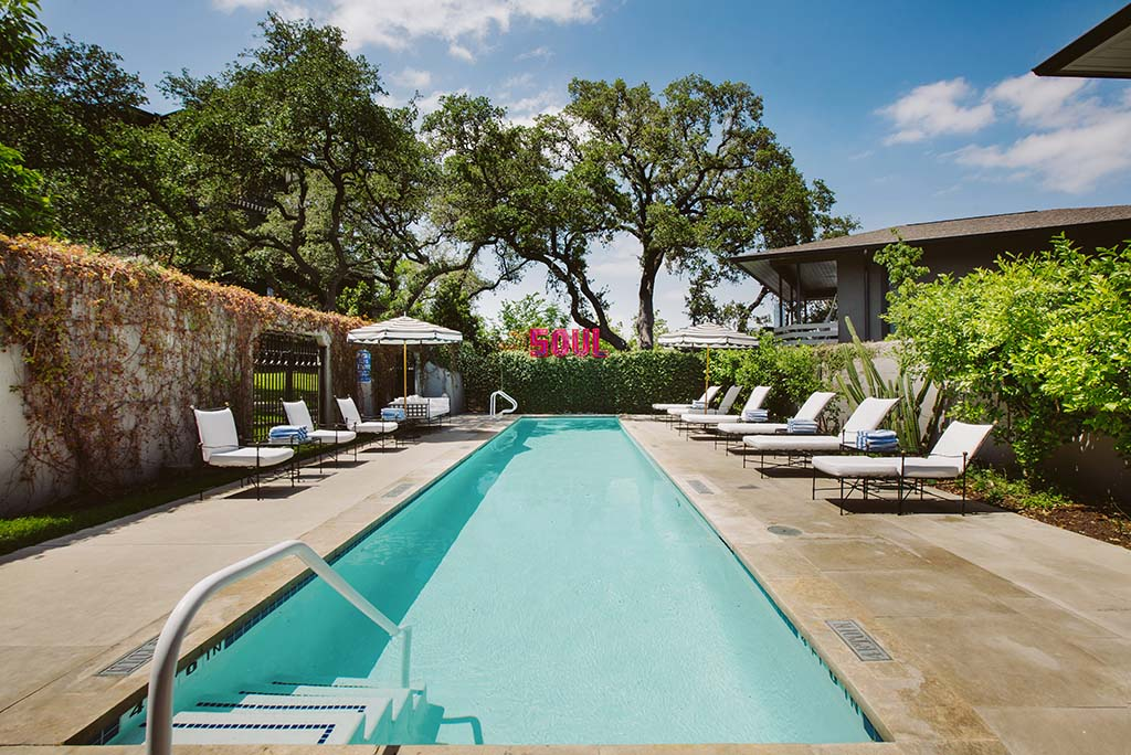 Weekend getaways: Poolside at Hotel Saint Cecilia in Austin's South Congress neighborhood. Photo courtesy of Hotel Saint Cecilia.