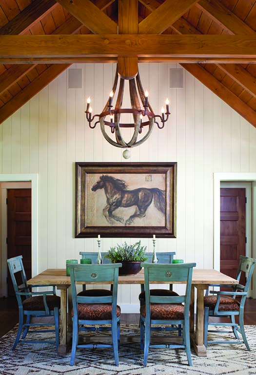 """The family wanted the interiors to """"feel like traditional Colorado — but they weren't looking for an over-the-top, rustic-mountain thing."""""""