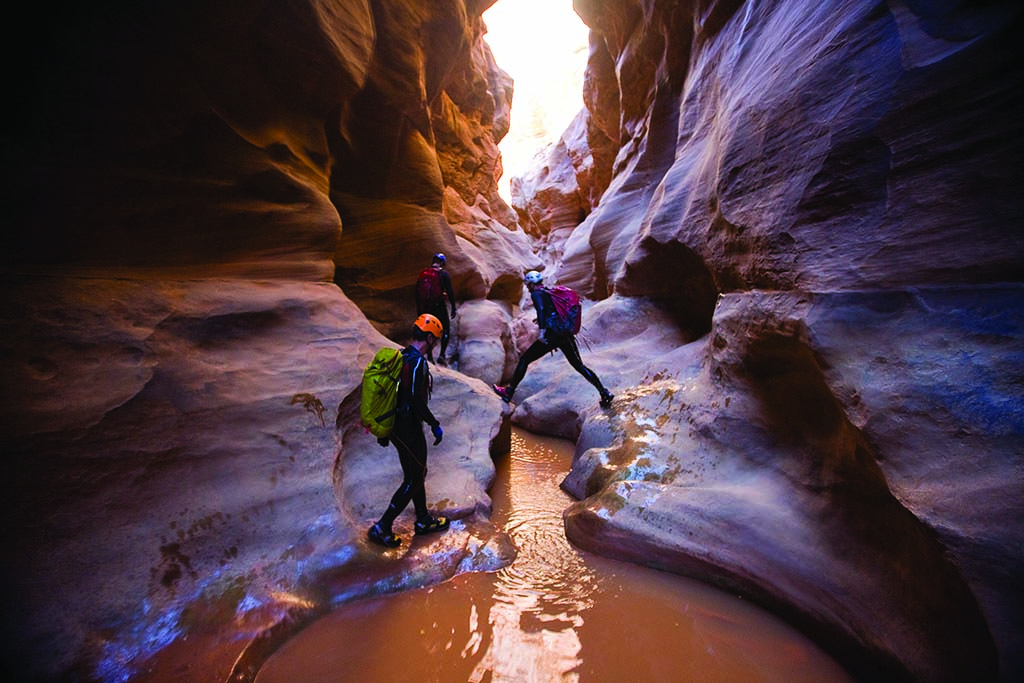 The Black Hole's pools of water, narrow canyon walls and shafts of light create an otherworldly experience.