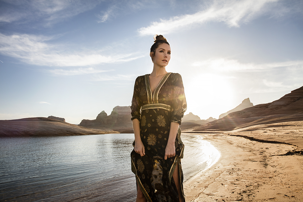 9 Ways to Look Chic in the Desert Heat // Dress by Calypso St. Barth, available at The Plaza at Preston Center, Dallas. Earrings by B.Stellar, available at Stanley Korshak, Dallas.