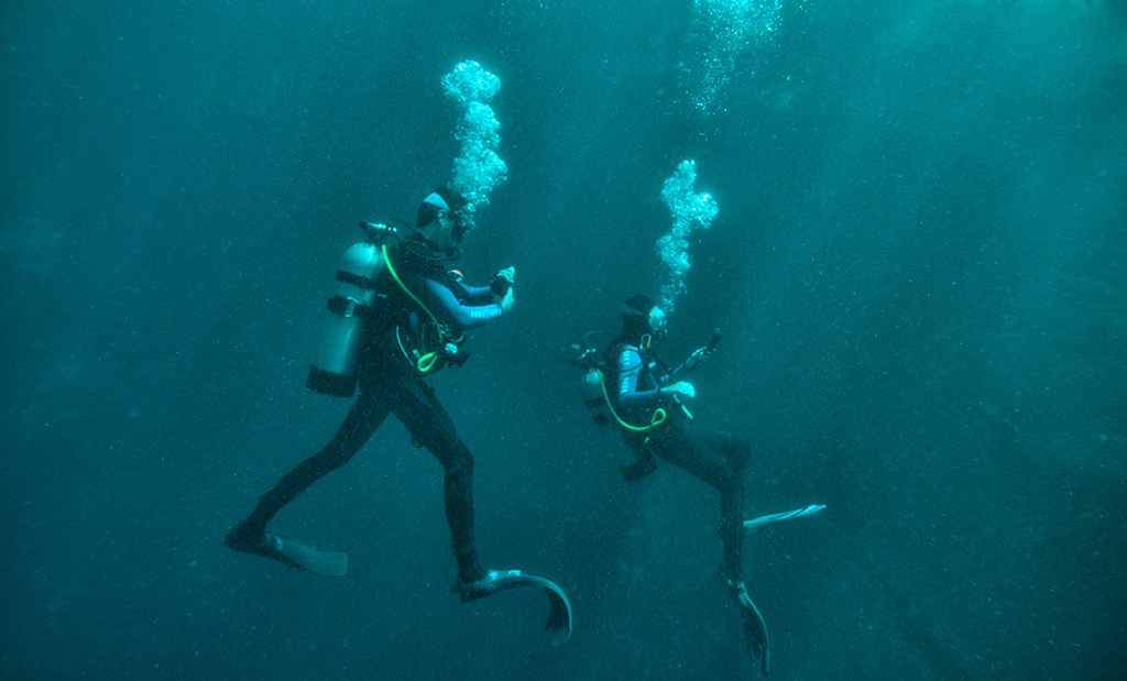 The Blue Hole has become a popular destination for swimmers, as well as divers hoping to gain open-water scuba certification.