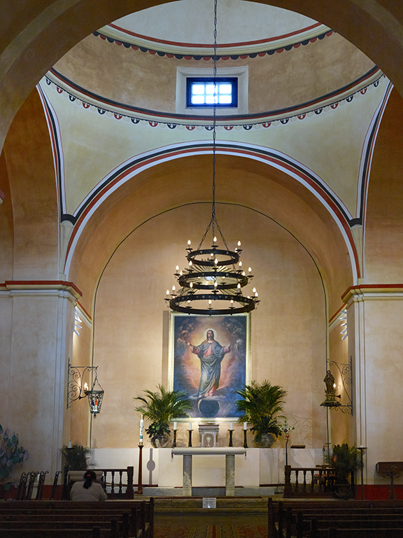 Touring the Missions of San Antonio: Inside the restored Concepción. Photo by Carol Highsmith/LOC.