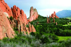 A National Natural Landmark, Garden of the Gods is a forest of red rock spires and otherworldly formations. Photo courtesy of visitcos.com.