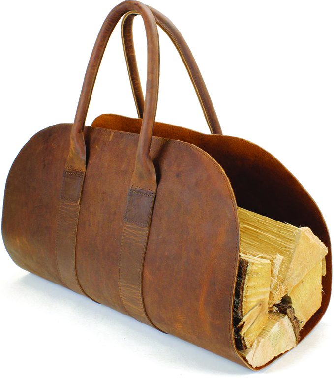 Itasca Leathergoods Firewood Carrier