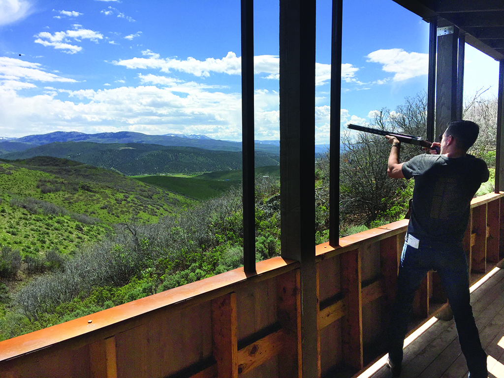 Modern cowboys can set their aim on skeet shooting. Photo by Jeff Ficker.