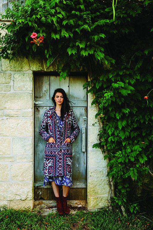 Dress by Rachel Comey, available at TenOverSix, Dallas. Coat by Smythe, available at June Ruby, Denver. Boots by Frye.