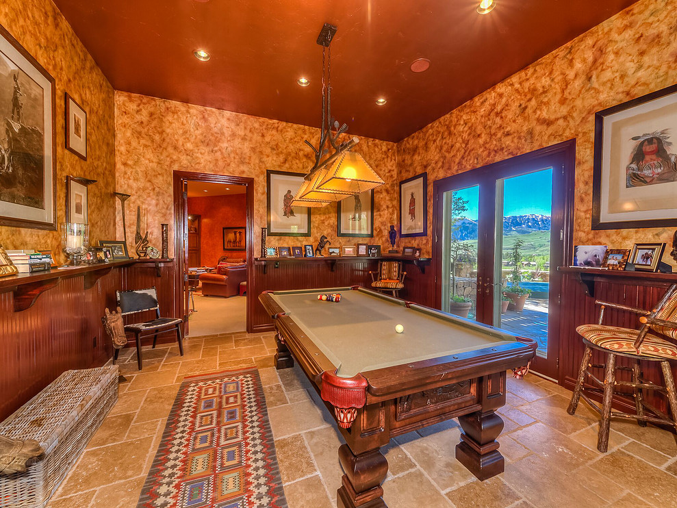 This beautiful pool table comes with 99 Pennington's game room, which opens up to the outdoor patio area with grill, hot tub and fire pit.