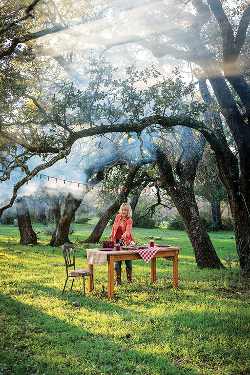 Ebert's passion for cooking and entertaining begins with wild, organic ingredients, which she gathers, hunts and fishes from the diverse, bountiful Texas landscape. Photo by Wyatt McSpadden.