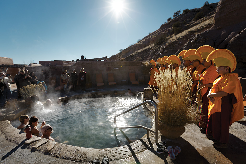 ojo caliente buddhist singles Holy waters: stoking the spirit at ojo caliente sam moulton joins a group of buddhist monks for a blessing of 12 miles of single-track mountain biking trails.