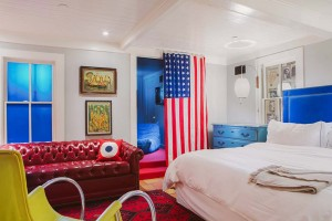 Hotel Saint Cecilia - suite with flag -Photographer Nick Simonite