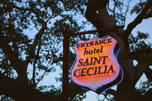 SIGN_Hotel Saint Cecilia - front sign -Photographer Nick Simonite